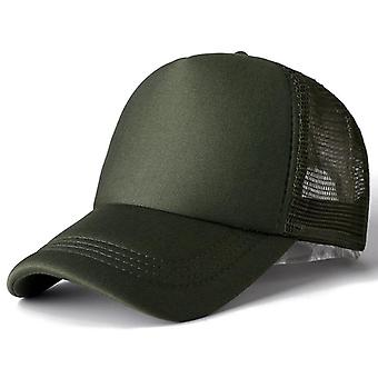 Unisex Casual Plain Mesh Baseball Cap, Adjustable Snapback Hats Men Hip Hop
