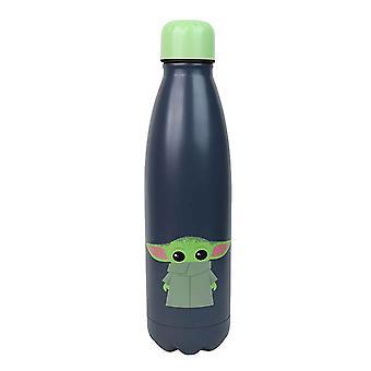בקבוק מים מנדלוריאן הילד Im כל האוזניים תינוק יודה חדש רשמי כחול מתכת