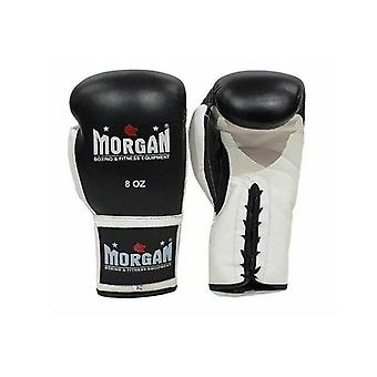 Morgan Lace Up Leather Fight Night Boxing Gloves 8 Oz