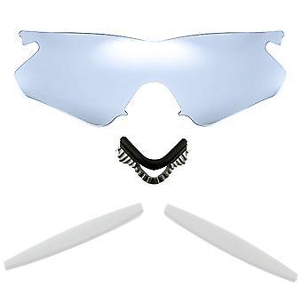 الاستقطاب استبدال العدسات عدة ل Oakley M الإطار سخان الفضة مرآة بيضاء المضادة للخدش المضادة للوهج UV400 SeekOptics