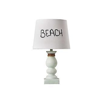 מנורת הדגשה לבנה וחוף במצוקה