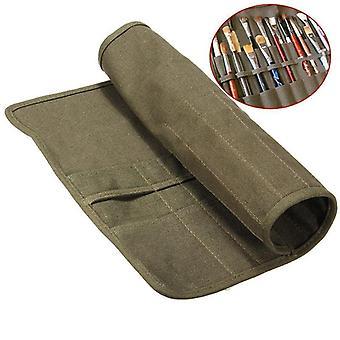 Durable Canvas Brush Bag, Artist Draw Pen, Brush Cases, Jack Holder