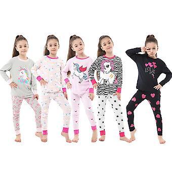 Girls Unicorn-sleepwear Dinosaur Homewear-pyjamas
