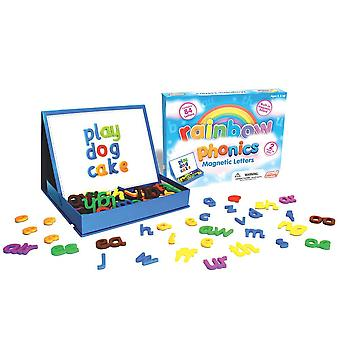 Junior learning rainbow phonics magnetic letters and built-in magnet board