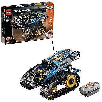 Lego 42095 Technik ferngesteuerte Stunt Racer Spielzeug, 2 in 1 Rennwagen Modell mit Leistungsfunktionen mot