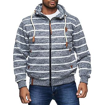 Mænd Hoodie Hoodie Stribet Casual Design Navy Look Snor Fall Collection