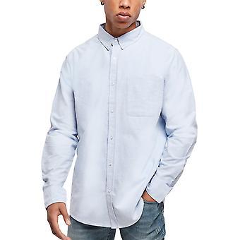 الحضري الكلاسيكية - الأساسية أكسفورد قميص أزرق / أبيض
