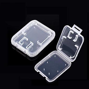 10pcs Sd Card Case Transparent Standard Sd Sdhc Microsd Case Box Tf Protector