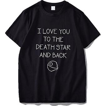 I Love You To The Death Star and Back T Shirt