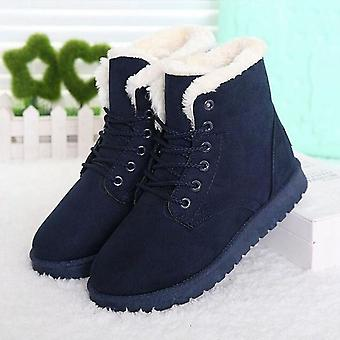 Women Waterproof Ankle Boots, Winter Plush Warm Boots Mujer