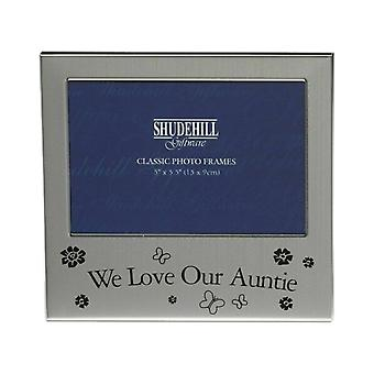 Shudehill Giftware We Love Our Auntie Photo Frame 5 X 3