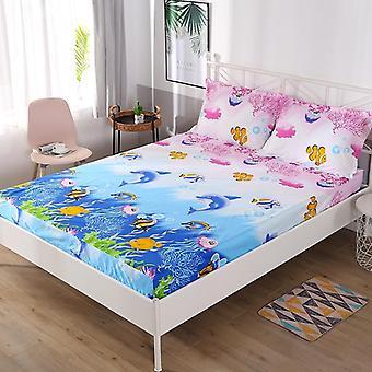 Weich, gemütlich atmungsaktiv, hoch elastisch gedruckt Bettlaken und Kissenbezug Set