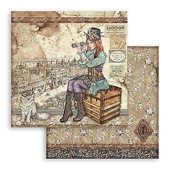 Stamperia Lady Vagabond en Cat 12x12 Inch papieren