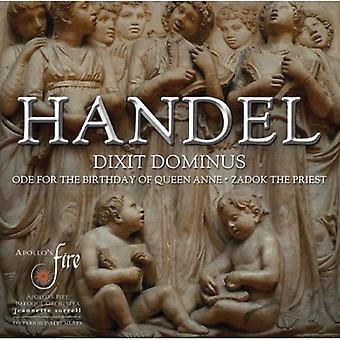 G. f. Händel - Händel: Dixit Dominus; Ode syntymäpäivä Queen Anne; [CD] Yhdysvallat pappi Saadok tuoda