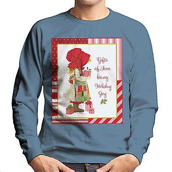 Holly Hobbie julklappar Kärlek Bring Holiday Joy Män's Sweatshirt