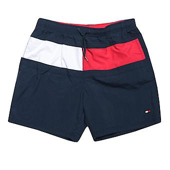 Boy's Tommy Hilfiger Junior Signature Swim Shorts en Bleu