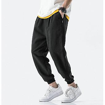 Summer Men Pants, Casual Business Trousers, Thin Loose Elastic Waist, Pencil
