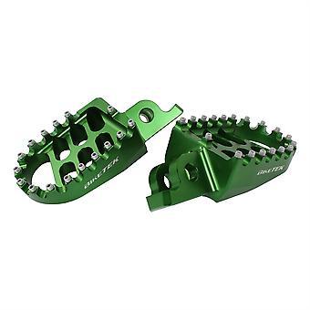 BikeTek MX geschmiedete breite Plattform Footpegs Kawasaki Green #66GN
