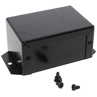Hammond 1411FBDBK Utility Metal Flanged Case 81x56x41mm Aluminium Black