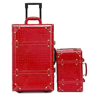 Password Suitcase, Wheels Trolley, Vintage Cabin Travel Bag