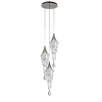 Ibis Design Lámpara Colgante 3 Bombillas Cromo Pulido 6 Cm