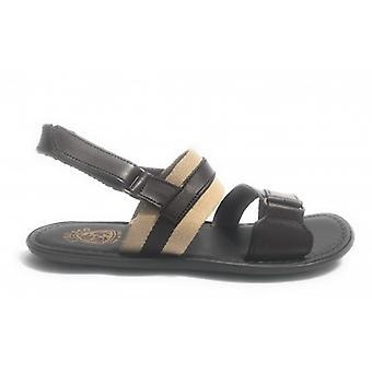 Men's Shoes Elite Sandal Bands Leather Canvas Moro Craft Us17el36