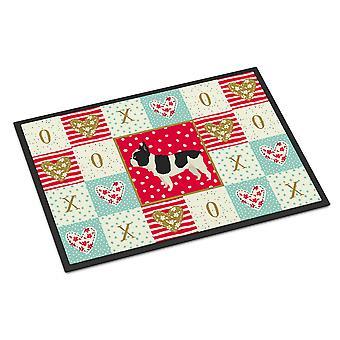 Caroline's Treasures French Bulldog Love Indoor or Outdoor Mat 24x36 zerbini, Multicolor