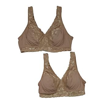 Breezies Bra B Soft Support Lace Wire Free Bege A307831