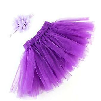 Pörröinen violetti tutu otsapannalla vauvan | 6-12m | 2kpl setti