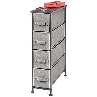 mDesign Schmalkommode Storage Organizer Tower, 4 Schubladen