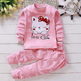 Lapset Pitkähihainen pyjamapuku, Vauvan/poikien sarjakuva sleepwear set