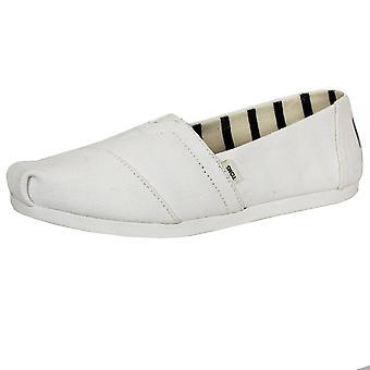 Toms women's white alpargata canvas shoes