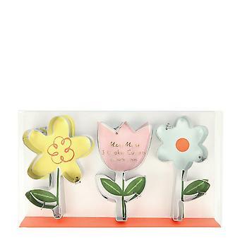 Meri Meri Flower Cookie Cutters Set of 3 Cutters