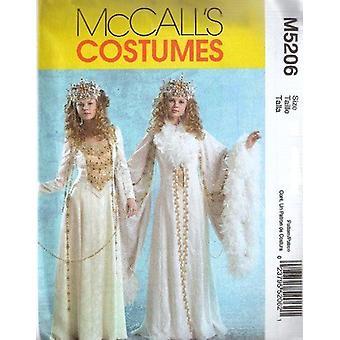 McCalls Naaipatroon 5206 Mist Snow Queen Kostuums Maat 6-12