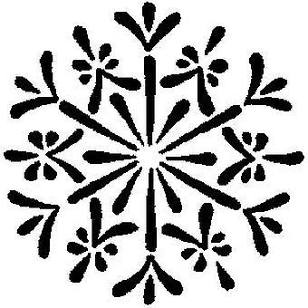 Copo de nieve 1 sello montado en madera