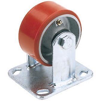 Draper 65531 160mm Dia. fast Plate fikse HD polyuretan hjul S.W.L. 400Kg