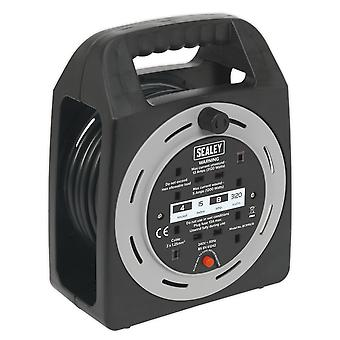Sealey Bcr15Cb Cable Reel Box tyyppi 15Mtr 4 X 230V 1.25 mm? Thermal Trip