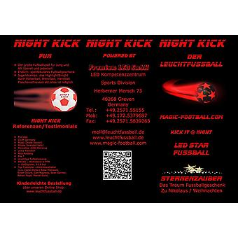 Leuchtfussball Night Kick LED Star - der brandneue Champion der Leuchtfussblle