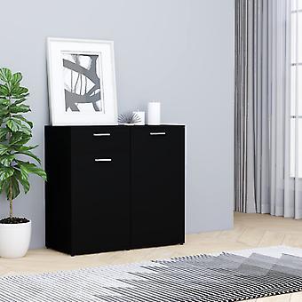 vidaXL Sideboard Black 80x36x75 cm Chipboard