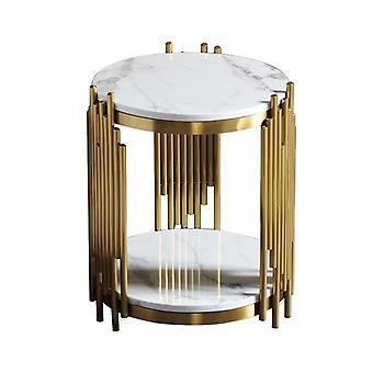Ruostumaton teräs kullattu moderni olohuone pieni sohvapöytä
