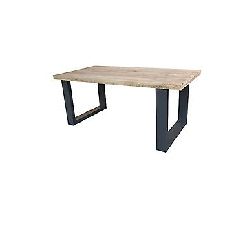 Wood4you - Eettafel New England Steigerhout 200Lx78Hx100D cm Antraciet
