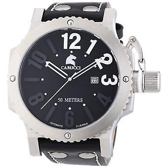 Carucci Watches CA2211BK - Men's wristwatch, rubbers, color: black