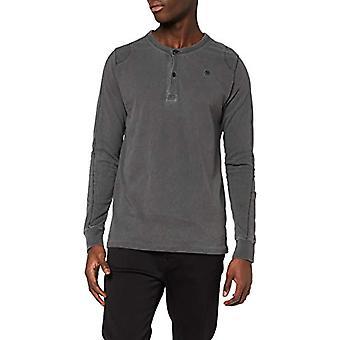 G-STAR RAW Blast Granddad Straight T-Shirt, Black (Dk Black 9450-6484), XS Men's