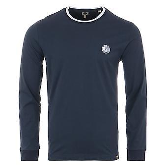 Pretty Green Tipperton Long Sleeve T-Shirt - Navy