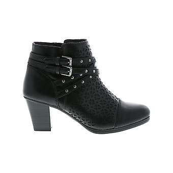 Rialto Womens Fisher Fabric Open Toe Ankle Fashion Boots