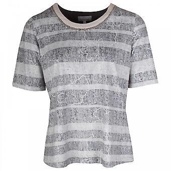 Just White Short Sleeve Printed T-shirt