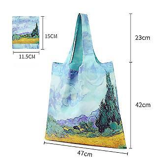 Uusi naisten ostoskassi Ympäristöystävällinen Tote Uudelleenkäytettävä päivittäistavarakaupan käsilaukku ES9245