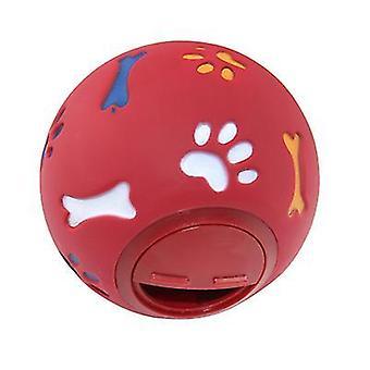 7,5Cm punainen pyörivä kytkin välipalapallo, lemmikki molar lelu az3362
