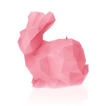 Vaaleanpunainen iso kani kynttilä