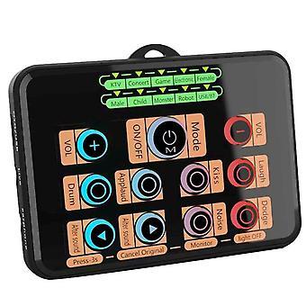 Sk5 المحمول الهاتف المحمول بطاقة الصوت الحية ، ميكروفون صوت مغير بطاقة الصوت للهاتف المحمول / التبديل / باد / الكمبيوتر